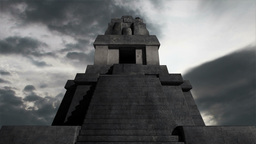 Maya Pyramid Clouds Timelapse 06 Stock Video Footage