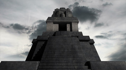 Maya Pyramid Clouds Timelapse 06 Stock Video Footage