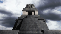 Maya Pyramid Clouds Timelapse 08 Stock Video Footage