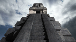 Maya Pyramid Clouds Timelapse 10 Stock Video Footage