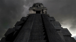 Maya Pyramid Clouds Timelapse 12 Stock Video Footage
