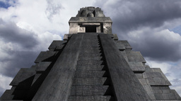 Maya Pyramid Clouds Timelapse 14 Stock Video Footage
