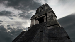 Maya Pyramid Clouds Timelapse 16 Stock Video Footage