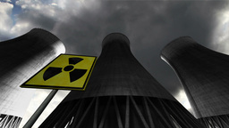 Nuclear Power Plant Clouds Timelapse 07 Stock Video Footage