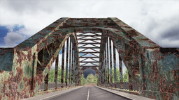 Rusty Bridge Clouds Timelapse 04 Stock Video Footage