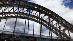 Rusty Bridge Clouds Timelapse 08 Stock Video Footage