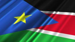 South Sudan Flag Loop 02 Stock Video Footage
