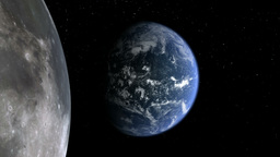 earth moon 01 Animation