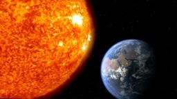earth moon sun 01 Stock Video Footage
