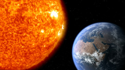 earth moon sun 01 Animation