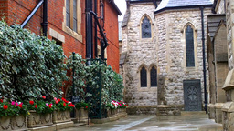 Church Courtyard in London Footage