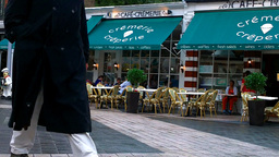French Cafe in London Footage