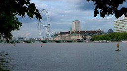 London Eye 01 Stock Video Footage