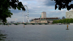 London Eye 01 Stock Video Footage