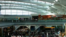 London Heathrow Airport Terminal 02 Stock Video Footage