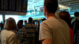 London Heathrow Airport Terminal 5 04 handheld Stock Video Footage