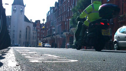 London Street 14 lowangle Stock Video Footage