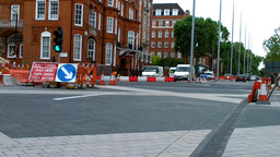 London Street Under Construction 04 Stock Video Footage