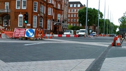 London Street Under Construction 04 Footage