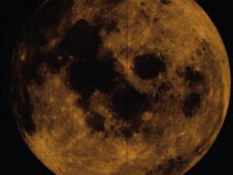 Large Old Moon Footage