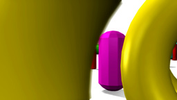 3D Color Shapes VBHD0032 stock footage