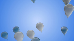 Blue & White Balloons VBHD0317 Footage