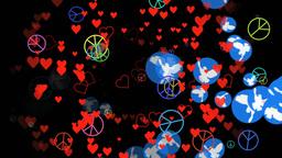 Wunderkind Peace Symbols ALL stock footage