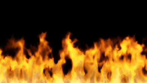 fire on black background - high temperature burnin Animation