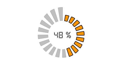 Progress Bar - Digital Style, Radial Design stock footage