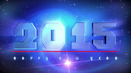 Countdown 2015 New Year stock footage