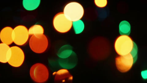 colorful christmas lights bokeh seamless loop back Footage