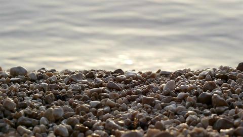 Pebble beach and sea Footage