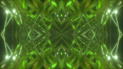Kaleidoscope Green 001 Animation