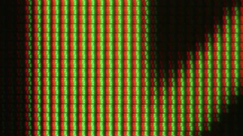 Extreme Closeup Of Monitor Bright Colors stock footage