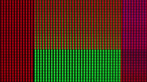 Macro shot of bright squares on screen Footage