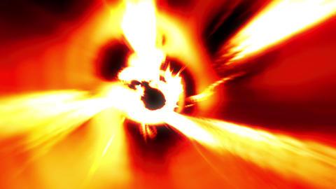 Fire Orange Tunnel Wormhole Loop 1 stock footage