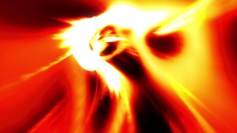 Fire orange tunnel wormhole loop 4 Animation