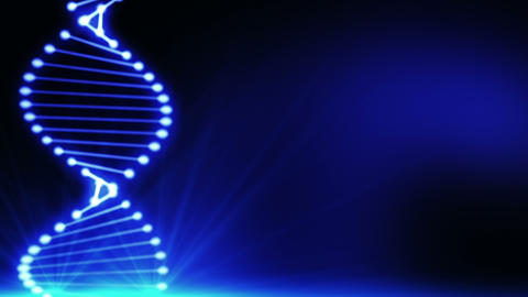Abstract blue DNA 1 Animation