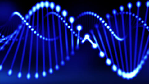 Abstract blue DNA 2 Animation