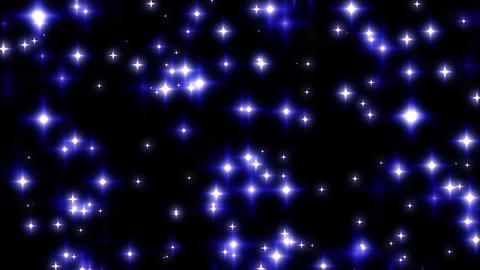Blue Twinkling Stars on Black Background Loop 1 Animation