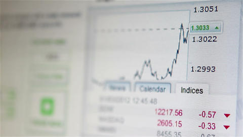 Business Website With Charts stock footage
