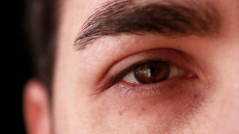 Closeup Man Eye stock footage