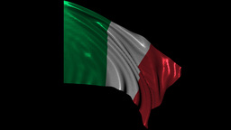Italian Republic Looping Flag stock footage