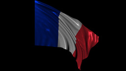 French Republic Looping Flag stock footage