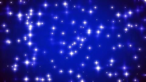 Blue Twinkling Stars on Vignette Background Loop 1 Animation