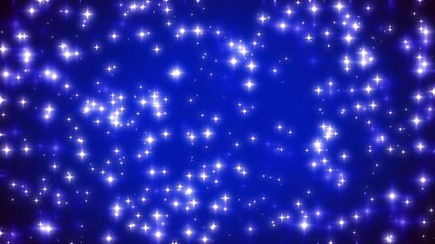 Blue Twinkling Stars on Vignette Background Loop 2 Animation