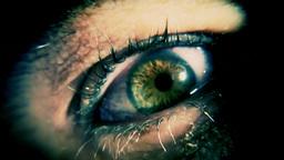 Eye sick green haunting Footage