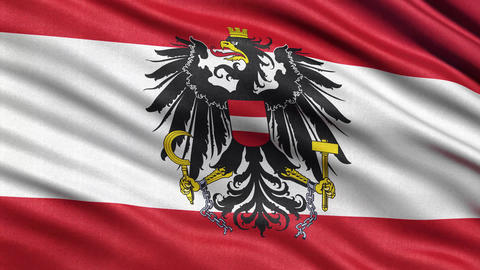4K Flag of Austria seamless loop Ultra-HD Animation