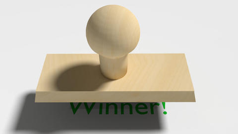 "Wooden Stamp Prints ""Winner"" Animation"