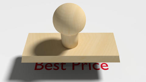 "Wooden Stamp Prints ""Best Price"" Animation"
